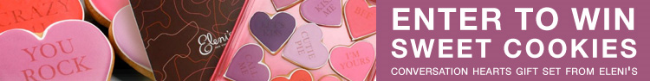A Conversation Hearts Cookies Gift Set could be yours - enter to win at www.brendasweddingblog.com