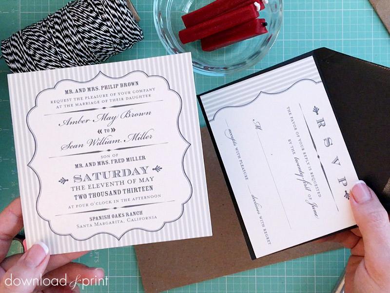 Vintage Parcel DIY Wedding Invitation Wrap - Step by Step Tutorial
