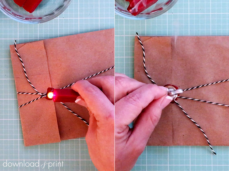 Vintage Parcel DIY Wedding Invitation Wrap - Step by Step Tutorial