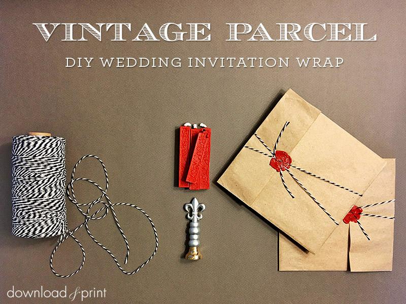 Vintage Parcel DIY Wedding Invitation Wrap Tutorial