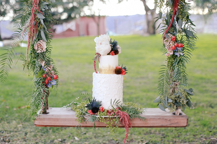 Romantic Bohemian Wedding Inspiration Boho Chic Cake By Laura Maries Cakes Photo