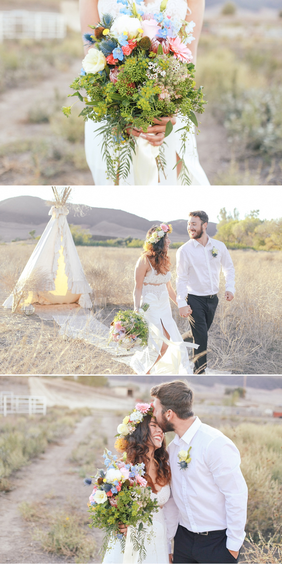 Boho Chic Inspired Wedding {styled shoot} in Ancient Greece