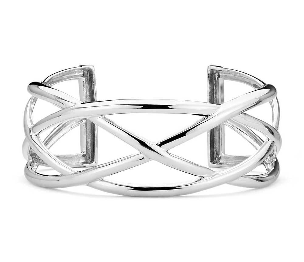 Braided Cuff in Sterling Silver