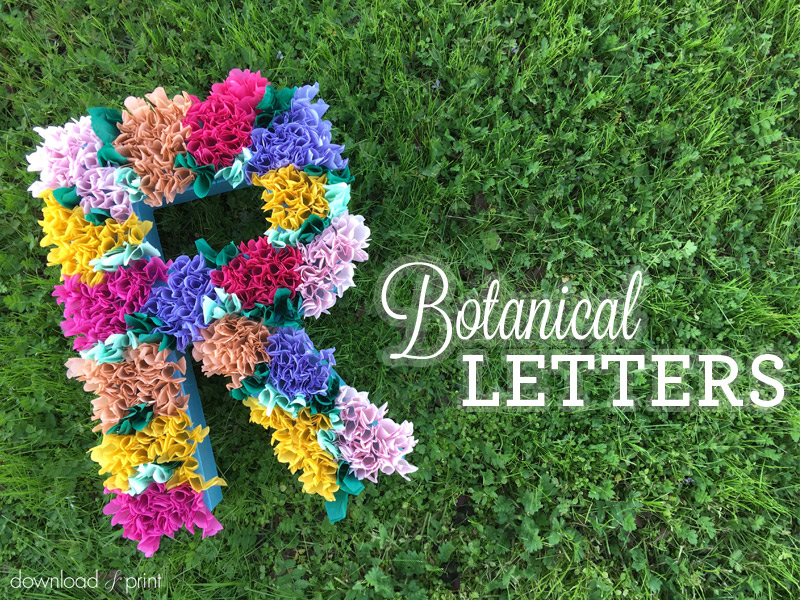 DIY Decoration with Botanical Letters for Weddings and Parties