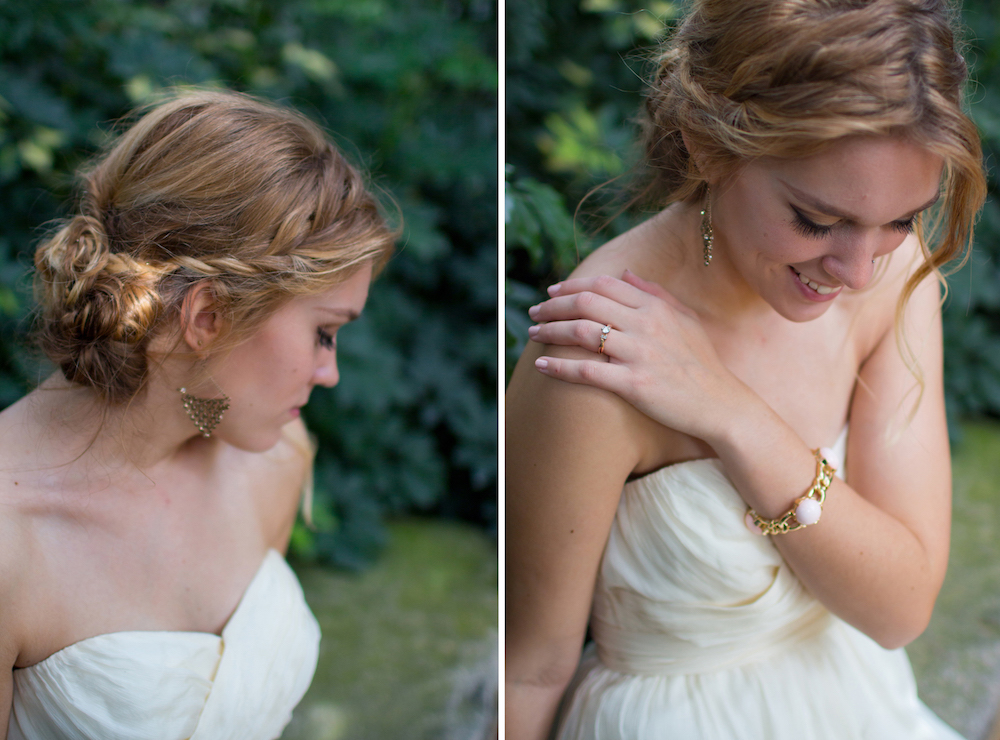 Wispy Twisted and Braided Uo-Do Bridal Hairstyle / photo by Spark Photography