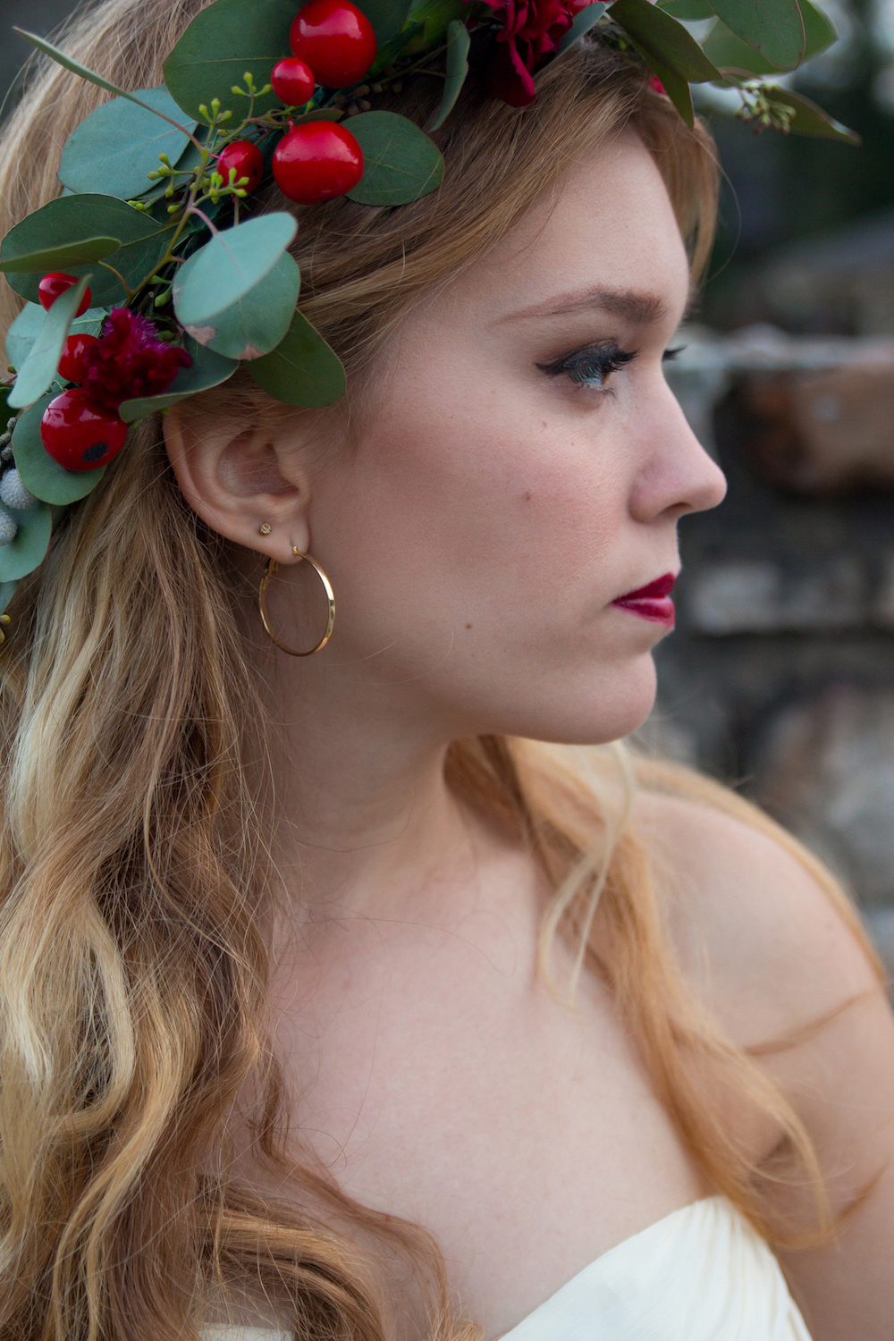 A romantic bridal inspiration styled shoot with a handmade DIY floral crown / photo by Spark Photography