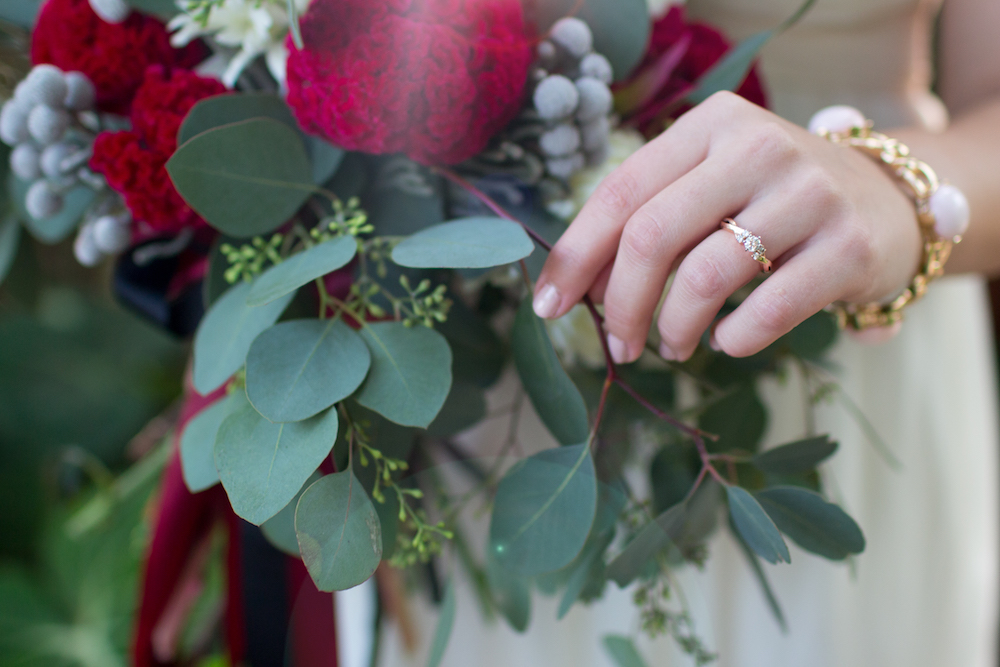 A romantic floral garden bridal inspiration styled shoot with a handmade bridal veil / photo by Spark Photography