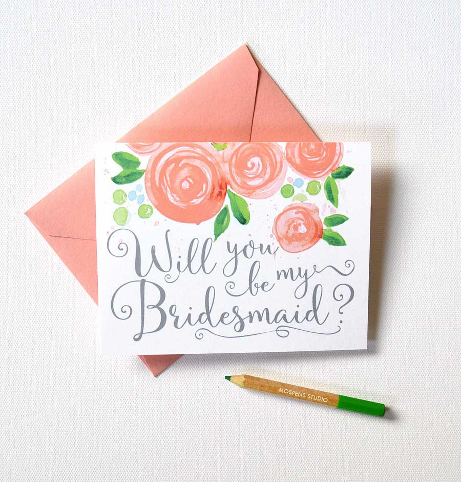 "SHOP HERE ~ <b><a rel=""nofollow"" href=""http://tidd.ly/afdf7b46"" target=""blank"">Will You Be My Bridesmaid Watercolor Cards</a></b>"