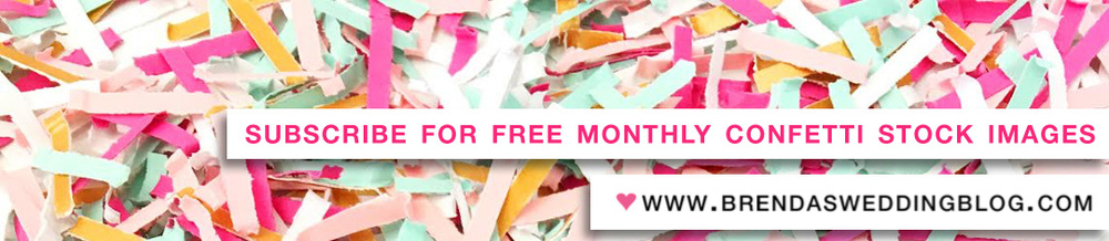 Download Free Confetti Stock Photography from Brenda's Wedding Blog