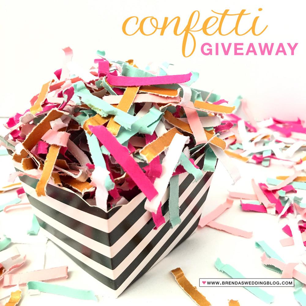 It's a Surprise Confetti Giveaway of 3 #festivefetti bags via @weddingsites