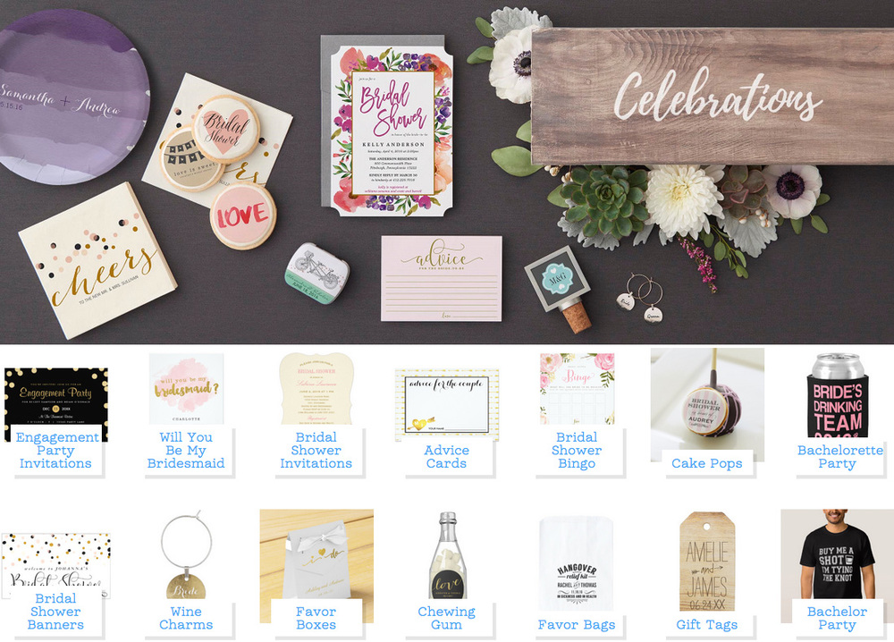 Throw the Perfect Personalized Pre-Wedding Celebration for the Happy Couple with Zazzle