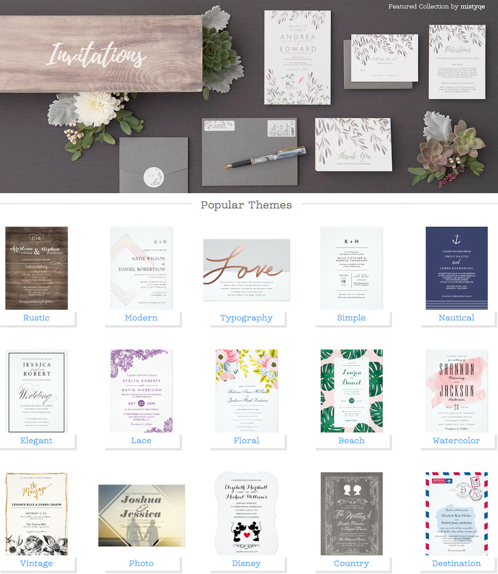 Create your Wedding Invitation Suite at Zazzle for the Perfect Combination of Custom Sendables