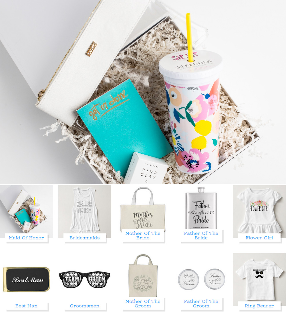 Personalized Gifts for your Wedding Party from Zazzle