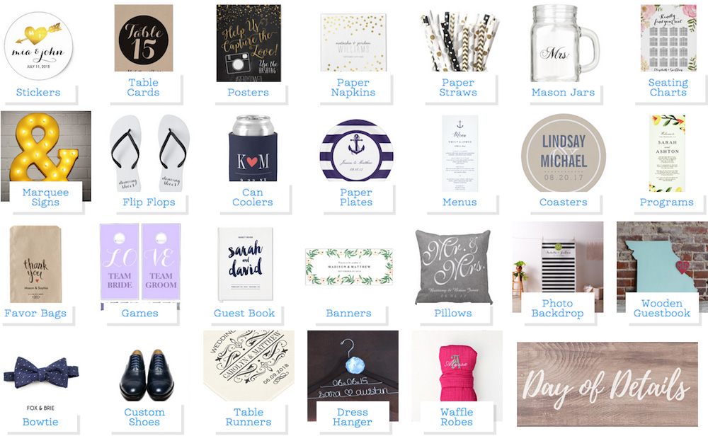 Add a Pop of Personalization to your Wedding Day with Customized Wedding Details from Zazzle