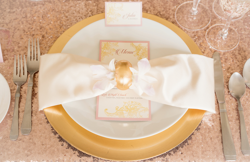 Pretty in Blush and Gold / Place Setting from a Romantic Wedding Inspired Styled Shoot