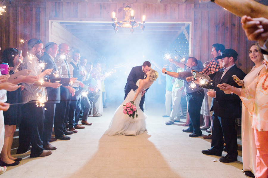 A Classic Southern Wedding with a Sparkler Exit on a Family Farm in South Carolina / photo by Hannah Ruth Photography LLC