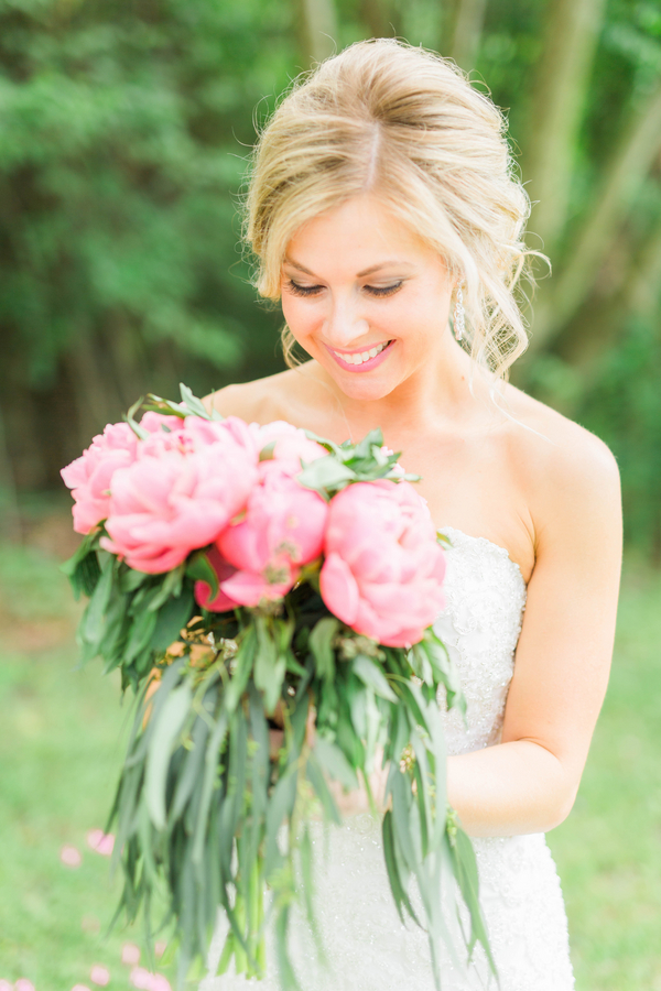 Gorgeous Pink Peony Bridal Bouquet/ photo by Hannah Ruth Photography LLC