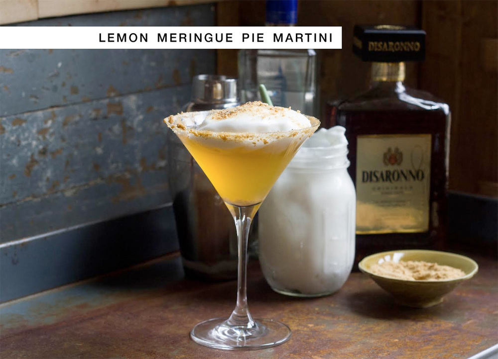 Signature Wedding Cocktail + Recipe - Lemon Meringue Pie Martini with Marshmallows