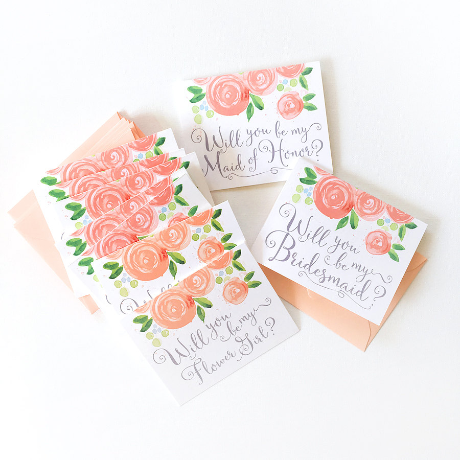 Will You Be My Bridesmaid Card Set / by Mospens Studio