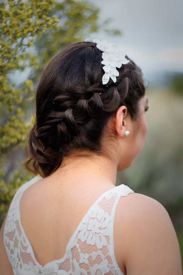 Pretty Bridal Hairstyle with a Side Braid for Bridal Portraits / photo by Autumn Noel Photography