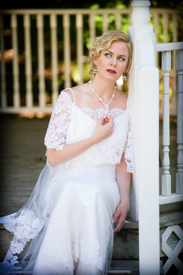 The Downton Abbey MISSY Wedding Dress is a throwback to early 20th Century femininity. From Amy Jo Tatum Bridal Couture