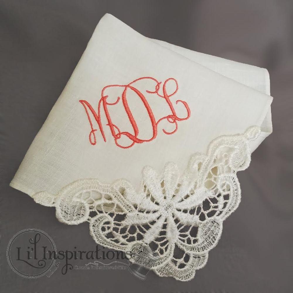 li u0026 39 l inspirations   custom embroidered wedding gifts