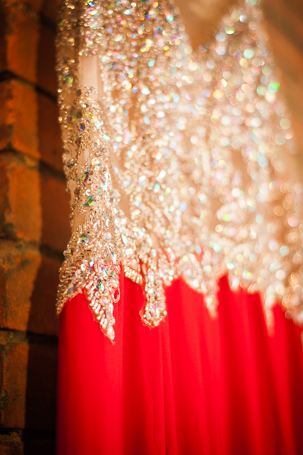 Spectacular Red Dress with Gold Beading and Sequins / photo by Lavishly Lux Studio