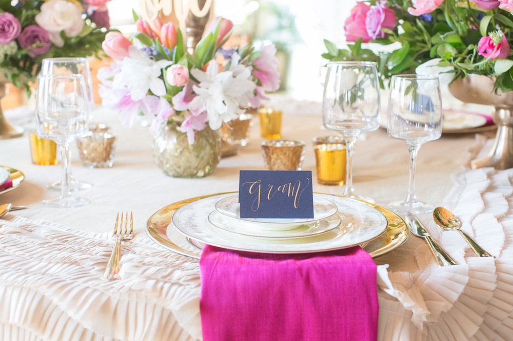 Spectacular Wedding Tablescapefrom an Urban Glam Meets Modern City Wedding - Inspired by Preston Bailey / Florals by EightTreeStreet / Photography by Amy Nicole
