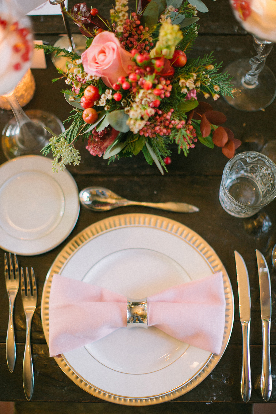 Boho Chic Inspired Wedding Reception Tablescape Place Setting / styled shoot coordinated by Love 4 Wed / photo by Anna Roussos Photography