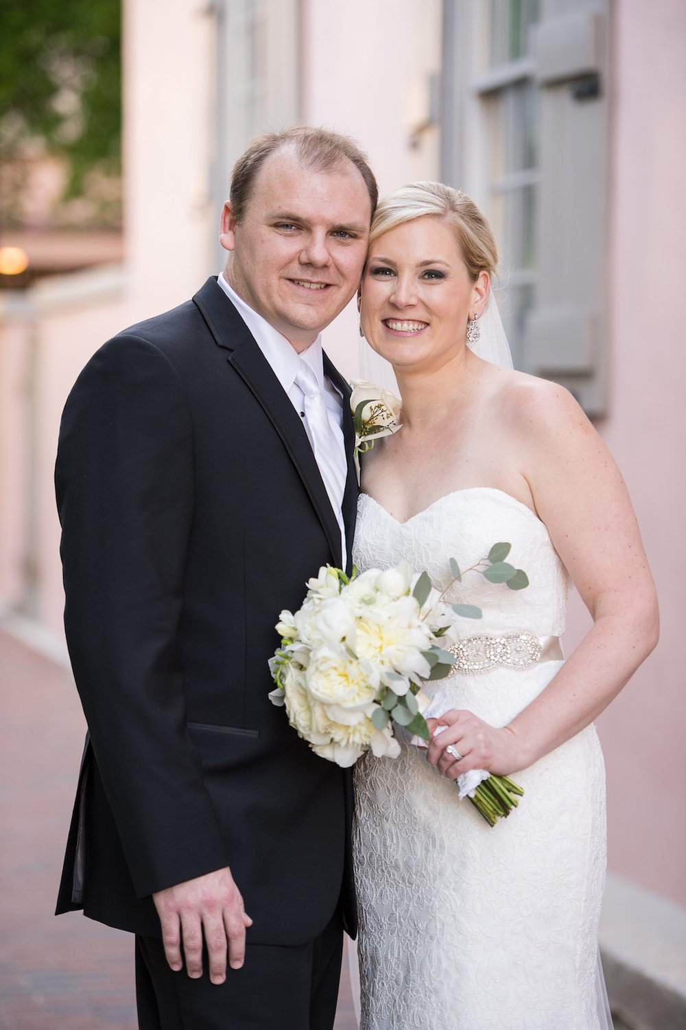 Sweet Bride and Groom Portrait from an Elegant Summer Wedding in Florida / Séverine Photography