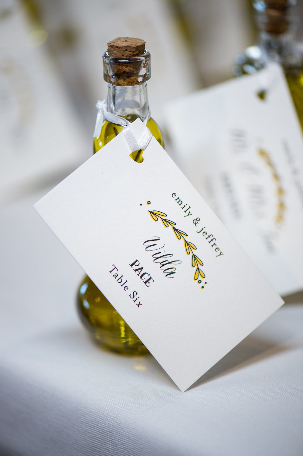 Olive Oil Wedding Favor from a Florida Wedding in the Summer / Séverine Photography