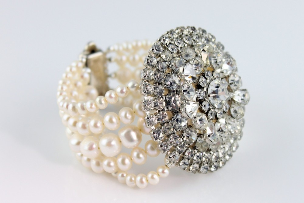 Fancy and Sparkly Wedding Jewelry with Pearls and Bling / from 14 Ways Real Brides Plan to Sparkle on their Wedding Day