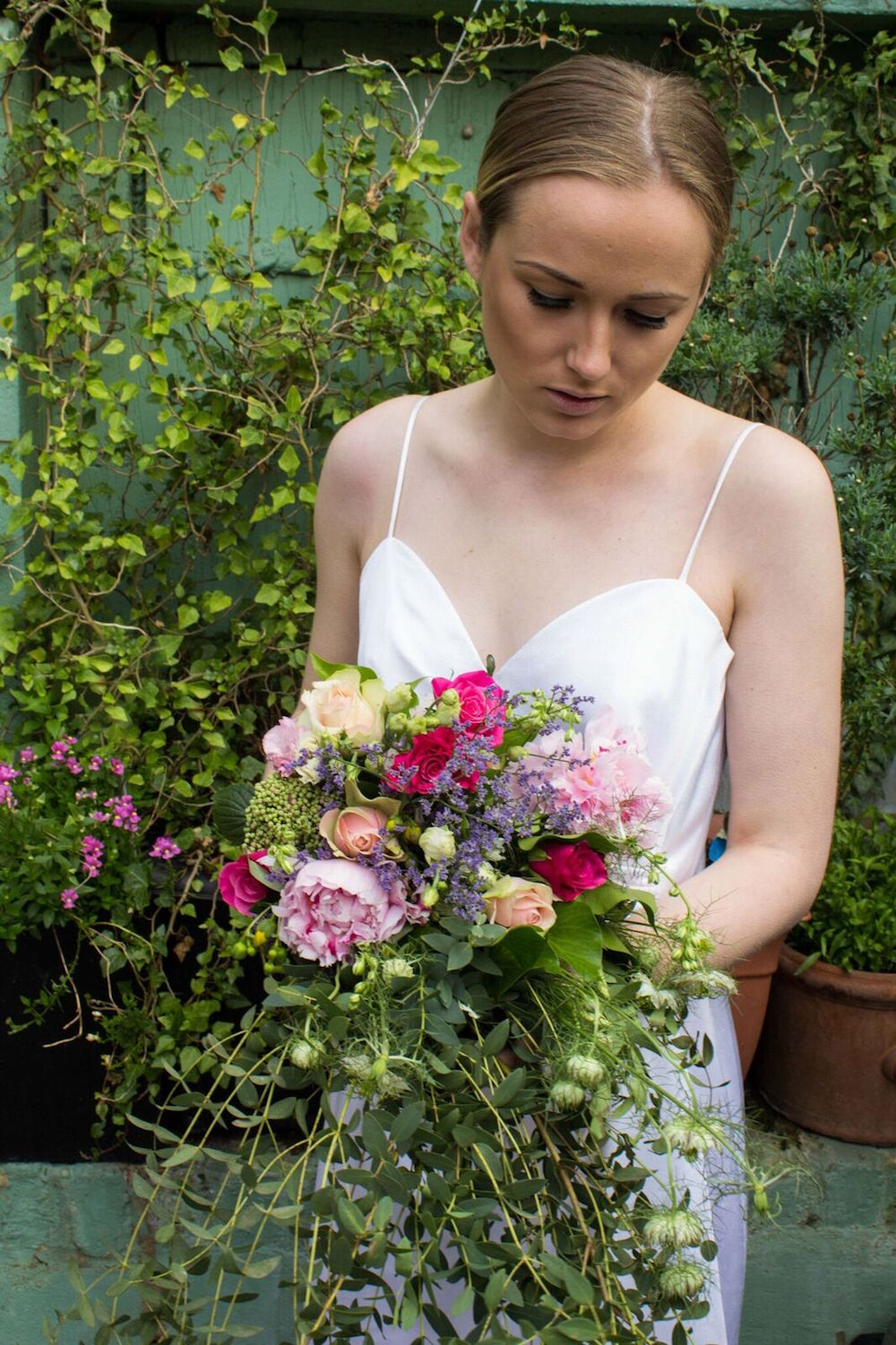 Gorgeous Cascading Wedding Bouquet in Bright Colors / Hallmark Events and Wedding Styling