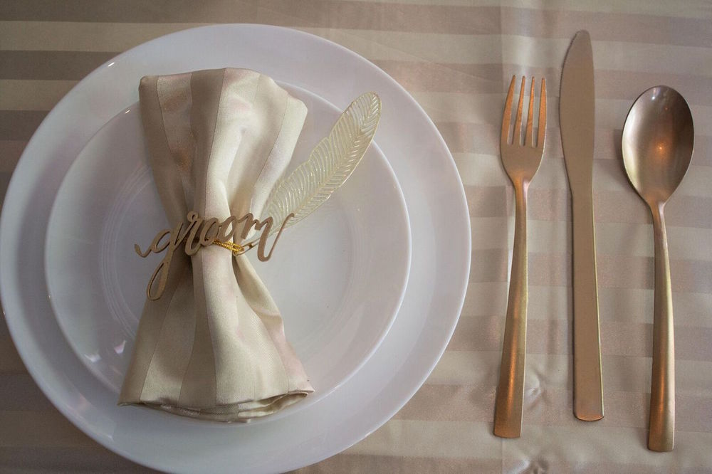 Wooden Groom Napkin Ring from a London Wedding / Hallmark Events and Wedding Styling