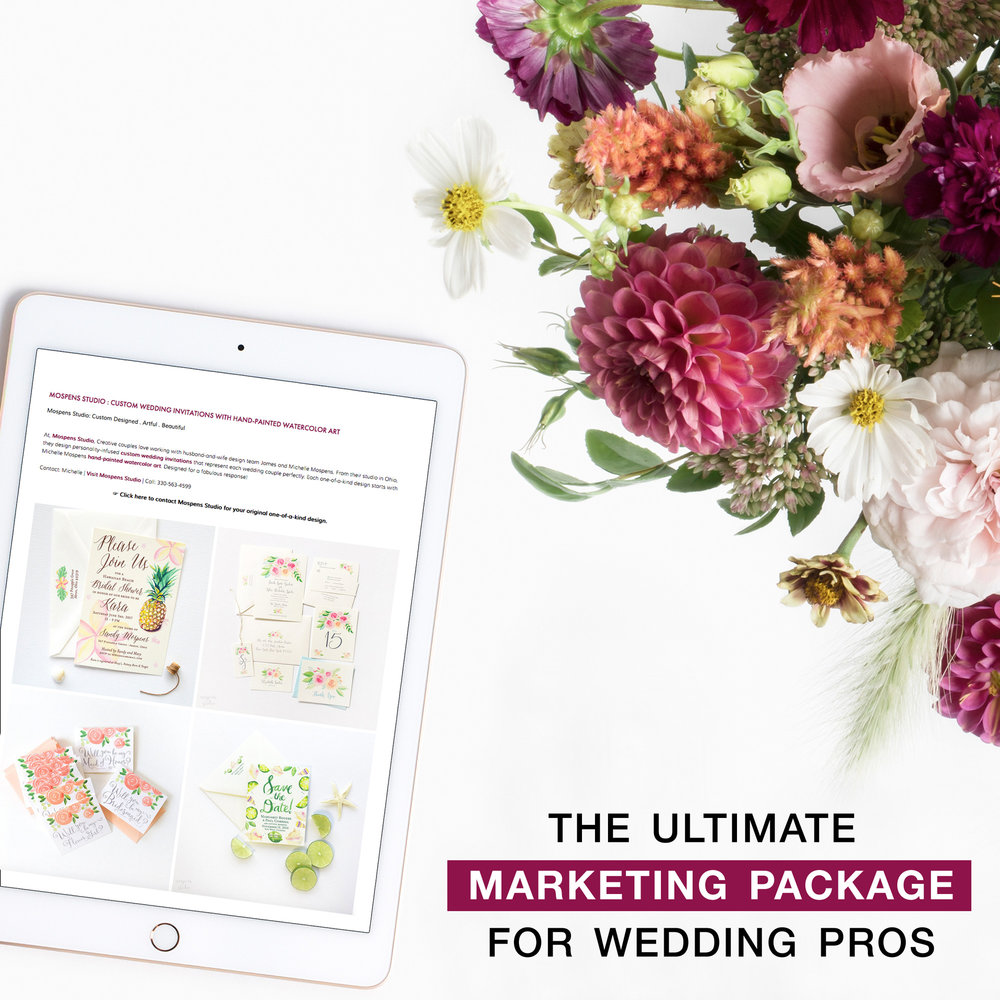 Join Brenda's Wedding Blog and be a part of the Ultimate Marketing Package for Wedding Professionals