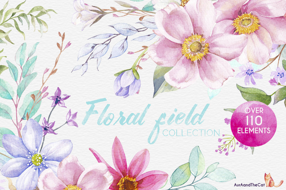 Watercolor Floral Illustrations | Flower Illustrations for DIY Wedding Invitations | Watercolor Flowers for the DIY Bride | Watercolor Wedding Invitations
