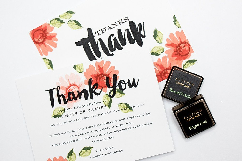 Thank You Stamp Kit | DIY Wedding Thank You Cards | Altenew Thank You Stamping Kit | Thank You Stamping Kit for DIY Wedding Invitations