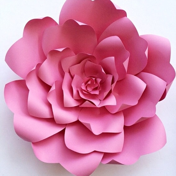 How to Add Flair to your Wedding or Party with Paper Flowers | Pink DIY Paper Flower Template from Paper Flora