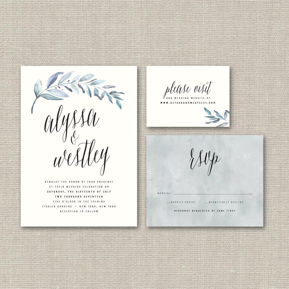 organic-leaves-wedding-invitation-splash-of-silver-etsy.jpg