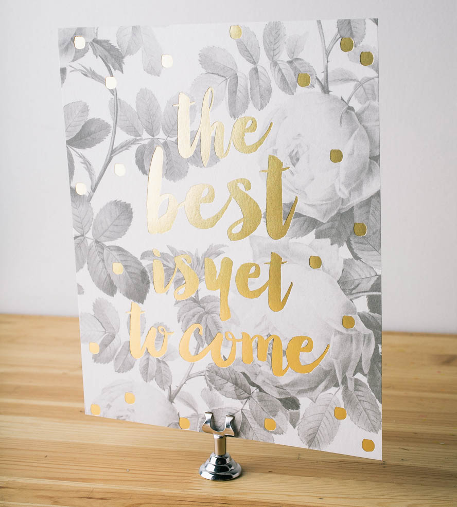 The Best Is Yet to Come - a great reminder for wedding couples as they plan their big day and get ready to have many best days together as a married couple