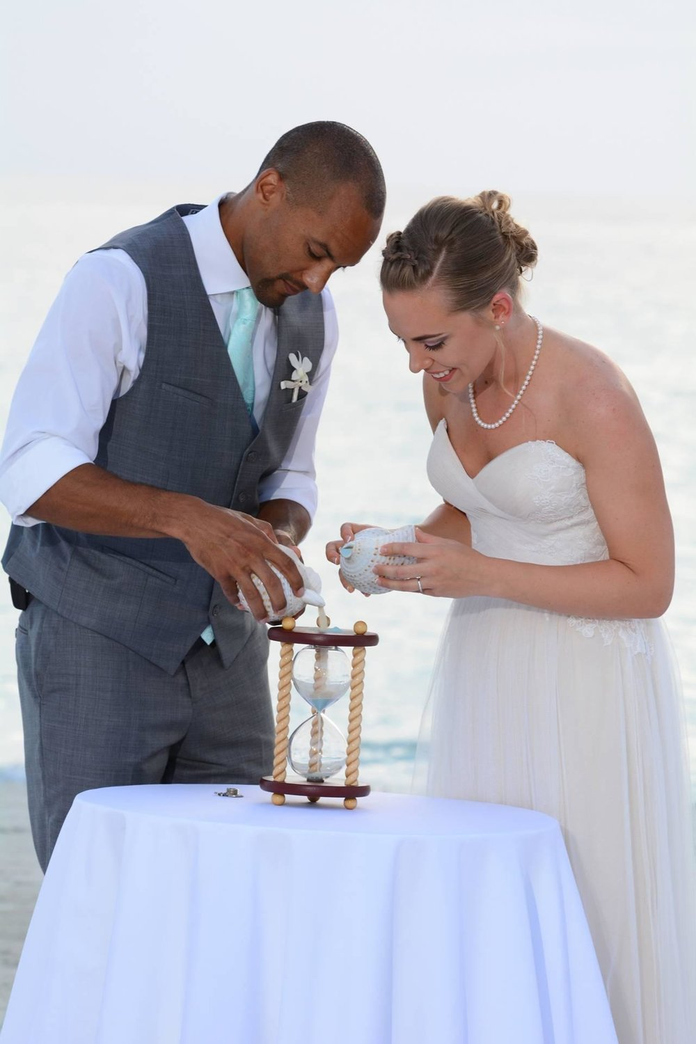 Capture The Moment, Preserve Your Wedding Memories, and Create an Heirloom with an Hourglass Wedding Unity Sand Ceremony - see more on www.BrendasWeddingBlog.com