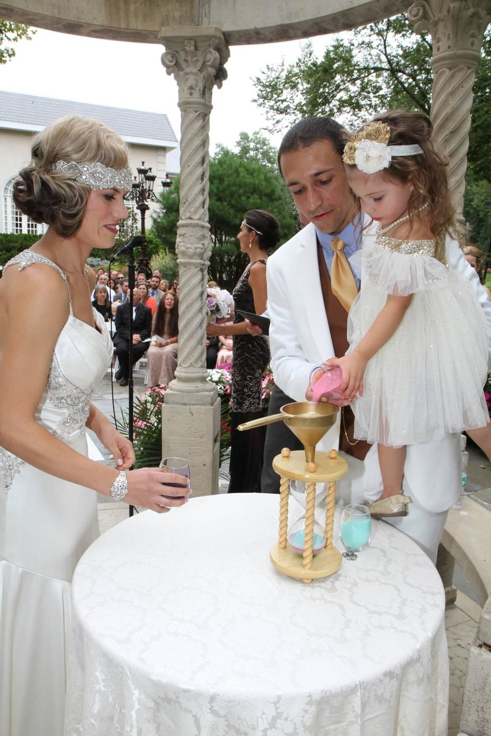 With an Heirloom Hourglass Wedding Unity Sand Ceremony you will preserve the memories of your wedding day forever - see more on www.BrendasWeddingBlog.com