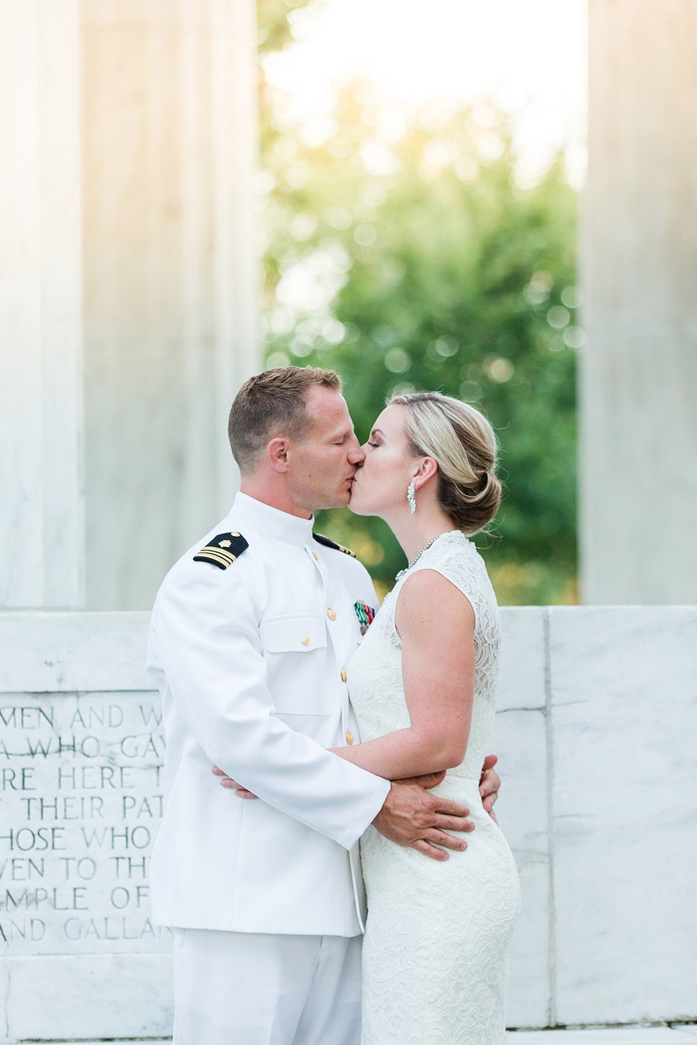 Intimate Washington DC Military Elopement : theme was a little bit Vintage with a Touch of Urban / by Marianne Blackham Photography - a Washington DC based natural light wedding photographer / as seen on www.BrendasWeddingBlog.com