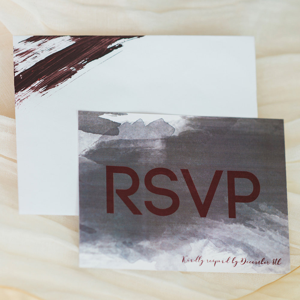 RSVP Card Design — Luxurious and romantic vintage wedding inspiration in an urban venue — photo by Marianne Blackham Photography — as seen on www.BrendasWeddingBlog.com