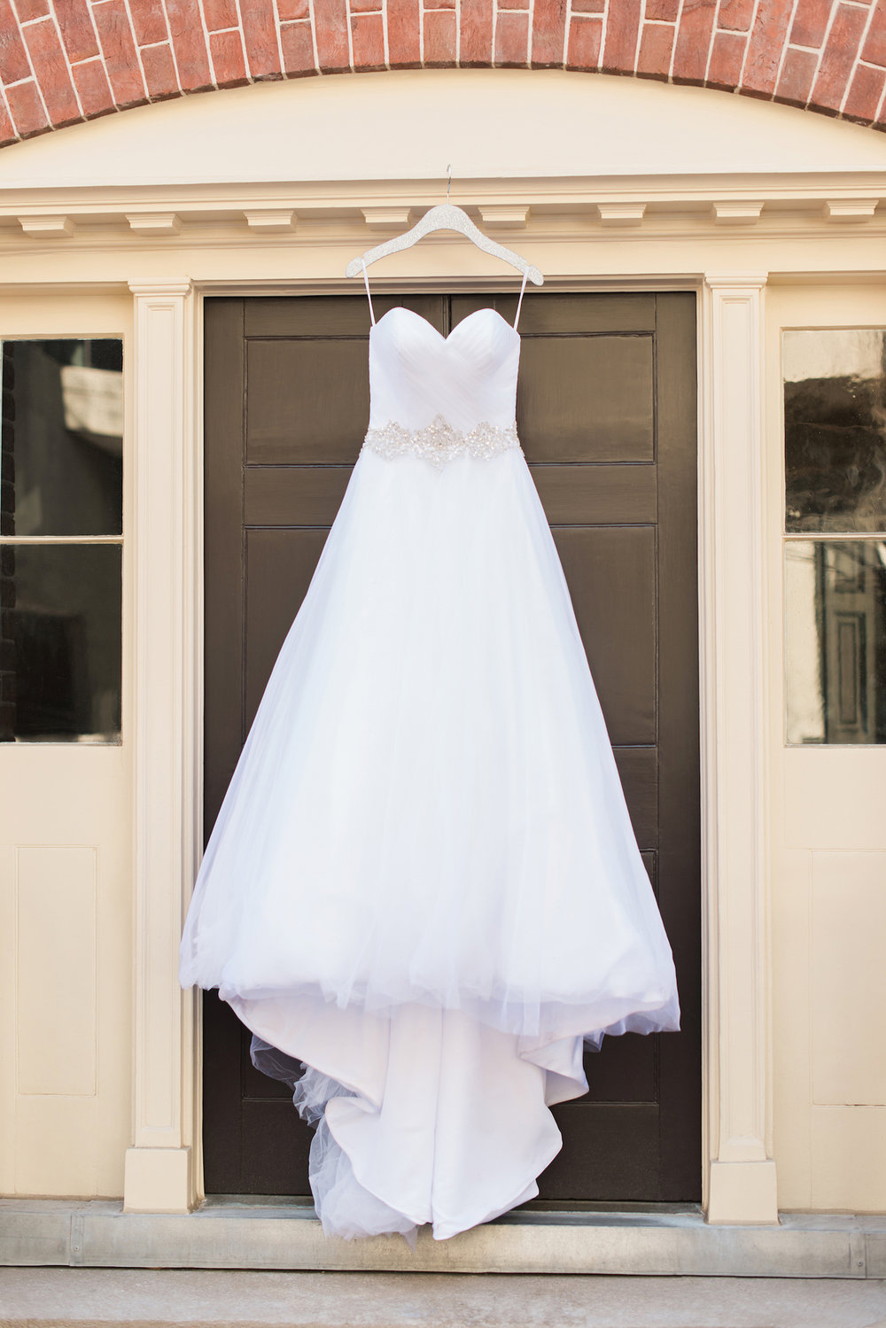 Pretty White Wedding Dress — Luxurious and romantic vintage wedding inspiration in an urban venue — photo by Marianne Blackham Photography — as seen on www.BrendasWeddingBlog.com