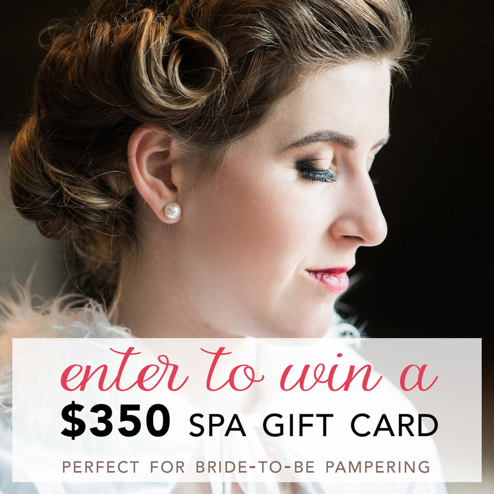 Calling every Bride to Be : Come Enter to Win a $350 Spa Gift Card - it's the perfect pre-wedding pampering gift package to treat yourself with