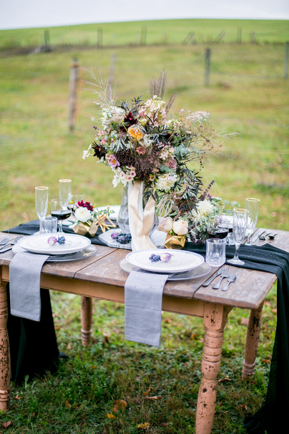 Moody and Dramatic Wedding Ideas + Inspiration — photo by Chantal Routhier Photography — click to see more inspiration on www.BrendasWeddingBlog.com