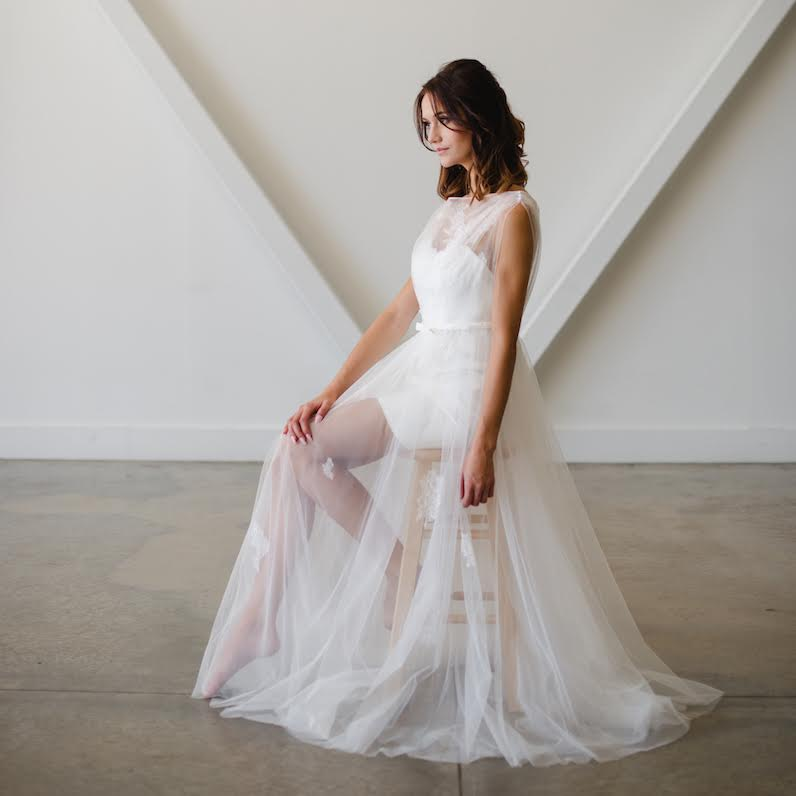 Timeless wedding gowns for the modern bride - created by Lyra Vega Bridal. A handpicked collection of collection of bridal gowns that focus on principles of timeless design, lush fabrics, subtle but interesting details, and impeccable fit. As seen on www.BrendasWeddingBlog.com — Fay design shown here