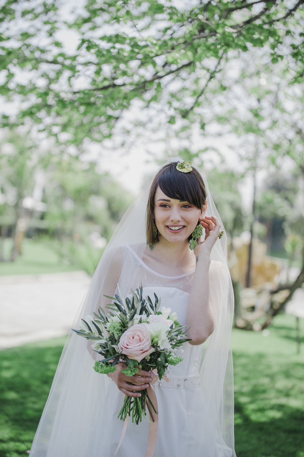 Pretty Bridal Portrait from a Lemon Yellow Garden Wedding Styled Shoot in Rome Italy - by Jess Palatucci Photography - as seen on www.BrendasWeddingBlog.com