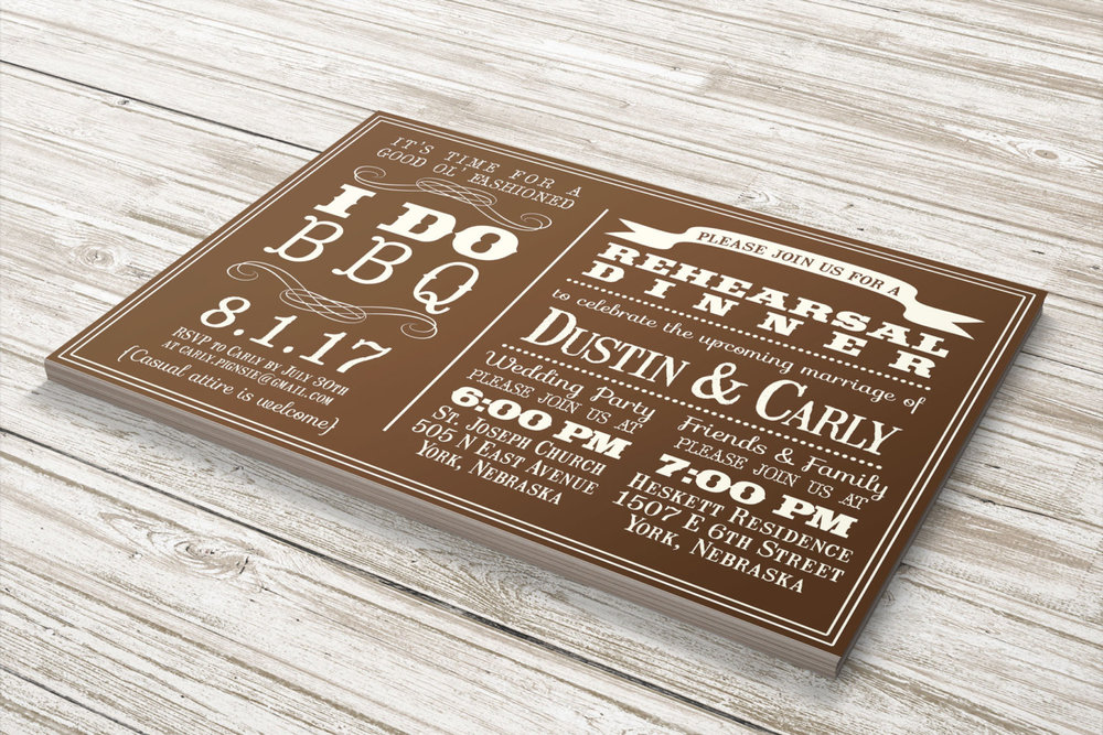 I Do BBQ Wedding Invitation with wonderful typography. Perfect choice for bridal showers, rehearsal dinners or rustic weddings.From Simply Smitten Designs - click to see more BBQ Barbecue Wedding Party Invitations on www.BrendasWeddingBlog.com